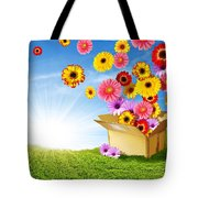 Spring Delivery Tote Bag by Carlos Caetano