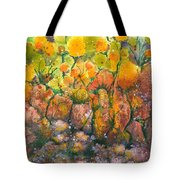 Spring Time Flowers Tote Bag by Audrey Peaty