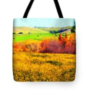 Springtime In The Golden Hills . 7D12402 Tote Bag by Wingsdomain Art and Photography