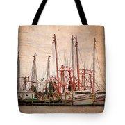 St John's Shrimping Tote Bag by Debra and Dave Vanderlaan