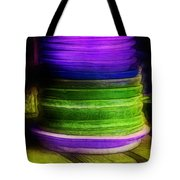 Stack Of Saucers Tote Bag by Judi Bagwell