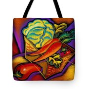 Staff For Yummy Salad Tote Bag by Leon Zernitsky