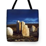 Standing Stones, Blacksod Point, Co Tote Bag by The Irish Image Collection