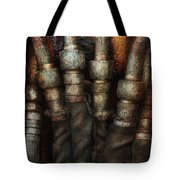 Steampunk - Pipes Tote Bag by Mike Savad