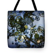 Steampunk Gears - Time Destroyed Tote Bag by Paul Ward