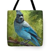 Stellar Jay Tote Bag by Dee Carpenter
