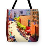 Stockton Street San Francisco . View Towards Union Square Tote Bag by Wingsdomain Art and Photography
