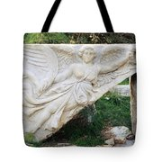 Stone Carving Of Nike Tote Bag by Mark Greenberg