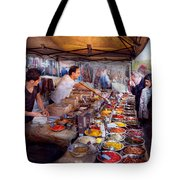 Storefront - The Open Air Tea And Spice Market  Tote Bag by Mike Savad