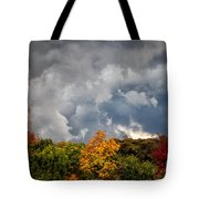Storms Coming Tote Bag by Ronald Lutz