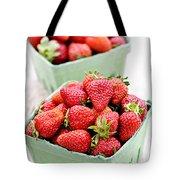 Strawberries Tote Bag by Elena Elisseeva