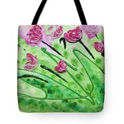 Stringy Tulips Tote Bag by Ruth Collis