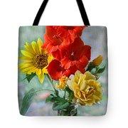 Summer Floral Tote Bag by Debbie Portwood