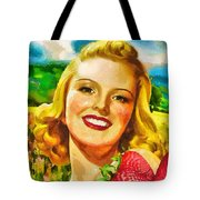 Summer Girl Tote Bag by Mo T