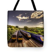 Summer Saturday At Aller Junction Tote Bag by Rob Hawkins
