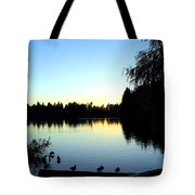 Sundown At Lost Lagoon Tote Bag by Will Borden