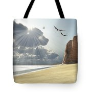 Sunlight Shines Down On Two Birds Tote Bag by Corey Ford