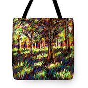 Sunlight Through The Trees Tote Bag by John  Nolan