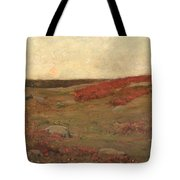 Sunrise In Autumn Tote Bag by Childe Hassam