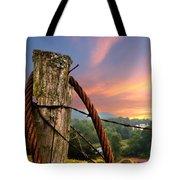 Sunrise Lasso Tote Bag by Debra and Dave Vanderlaan