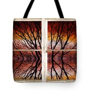 Sunset Abstract Rustic Picture Window View Tote Bag by James BO  Insogna