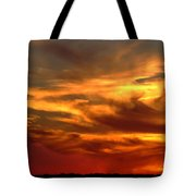 Sunset Bull  Tote Bag by Cliff Norton