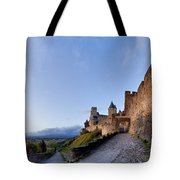 Sunset in Carcassonne Tote Bag by Robert Lacy