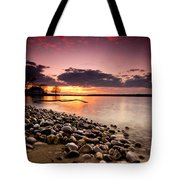 Sunset On The Rocks Tote Bag by Cale Best