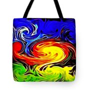 Sunset Swirl Tote Bag by Stephen Younts