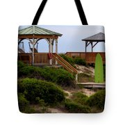 Surfs Up Tote Bag by Karen Wiles