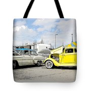 Swap Meet Plymouth And Chevy  Tote Bag by Steve McKinzie
