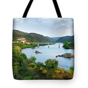 Tagus Landscape Tote Bag by Carlos Caetano
