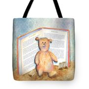 Tea Bag Teddy Tote Bag by Arline Wagner
