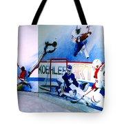 Team Sports Mural Tote Bag by Hanne Lore Koehler