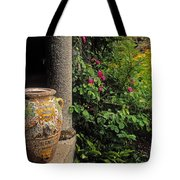 Temple And Garden Urn, The Wild Garden Tote Bag by The Irish Image Collection