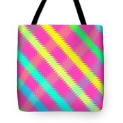 Textured Check Tote Bag by Louisa Knight