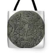 Tezcatlipoca And Huitzilopochtli Tote Bag by Photo Researchers