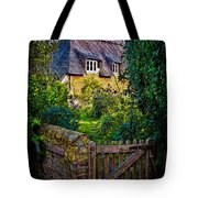 Thatched Roof Country Home Tote Bag by Chris Lord