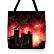 The 54th Annual Target Fireworks In Detroit Michigan - Version 2 Tote Bag by Gordon Dean II