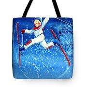 The Aerial Skier 16 Tote Bag by Hanne Lore Koehler