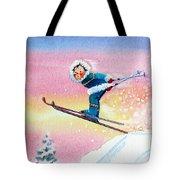 The Aerial Skier - 7 Tote Bag by Hanne Lore Koehler