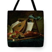The Attributes Of Music Tote Bag by Anne Vallaer-Coster