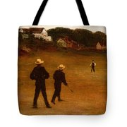The Ball Players Tote Bag by William Morris Hunt