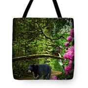 The Bear Went Over the Mountain Tote Bag by Lianne Schneider