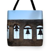 The Bells At The San Juan Capistrano Mission Tote Bag by Pat Cannon