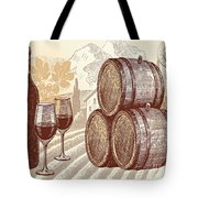 The Best Vintage Wine Tote Bag by Cheryl Young