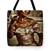 The Bronze Lady in Pike Place Market Tote Bag by David Patterson