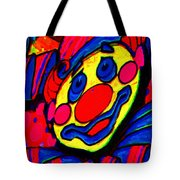 The Circus Circus Clown Tote Bag by Wingsdomain Art and Photography
