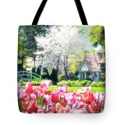 The Claude Monet Small House Tote Bag by Tamyra Ayles