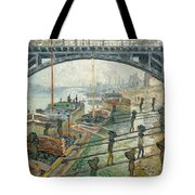 The Coal Workers Tote Bag by Claude Monet